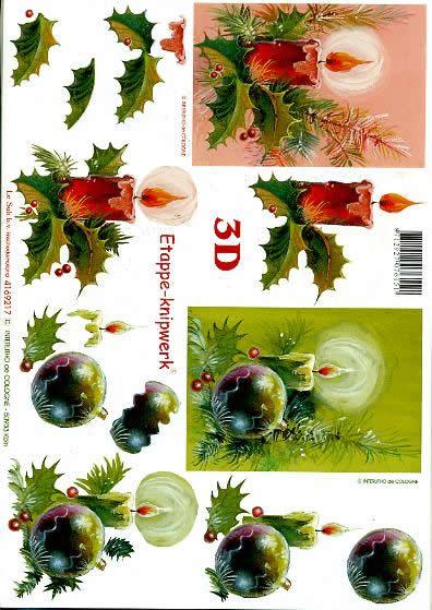 3D Bogen Weihnachtsfeier - Format A4,  Weihnachten - Baumschmuck,  Le Suh,  3D Bogen,  Weihnachtsfeier
