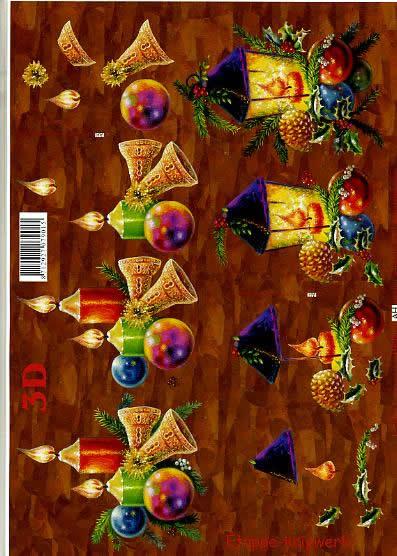 3D Bogen Kerzen + Laternen, weinrot, - Format A4
