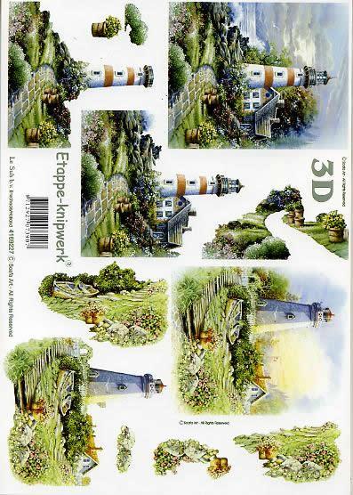 3D Bogen Leuchtturm - Format A4,  Le Suh,  3D Bogen,  Leuchtturm