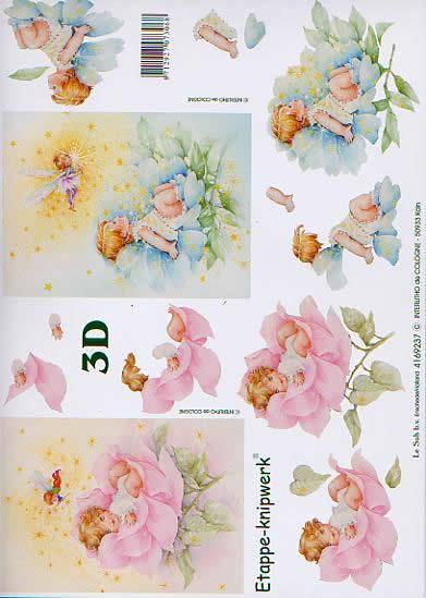3D Bogen Rosenkind - Format A4,  Blumen - Rosen,  Le Suh,  3D Bogen,  Rosenkind