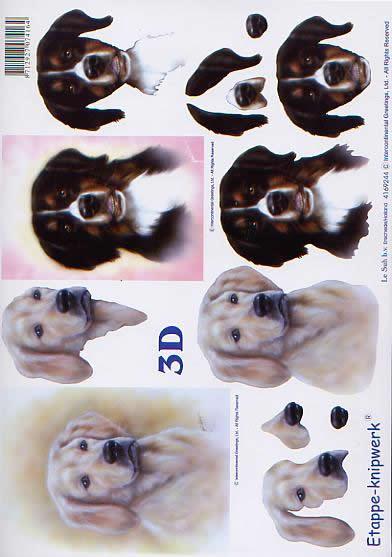3D Bogen Hunde - Format A4,  Tiere - Hunde,  Le Suh,  3D Bogen,  Hunde