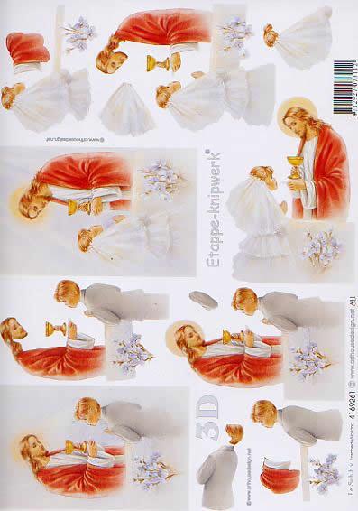 3D Bogen Kommunion - Format A4,  Ereignisse - Kommunion,  Le Suh,  3D Bogen,  Konfirmation,  Kelch