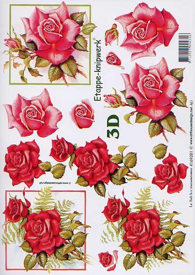3D Bogen Rosen - Format A4,  Blumen - Rosen,  Le Suh,  3D Bogen,  Rote Rosen