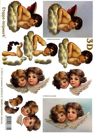 3D Bogen Engel - Format A4,  Le Suh,  3D Bogen,  Engel auf Wolke