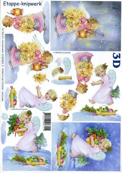 3D Bogen Weihnachtsengel - Format A4