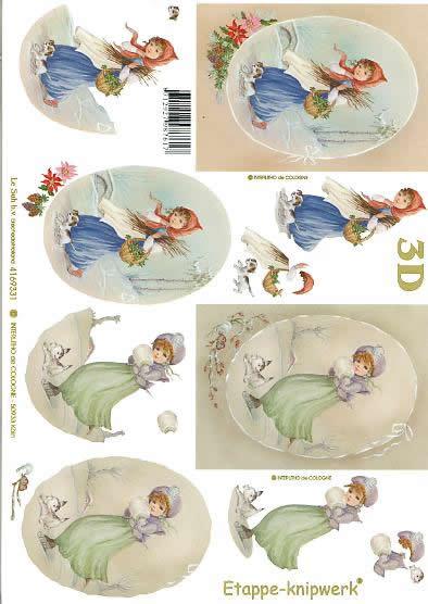 3D Bogen Weihnachtsnostalgie - Format A4