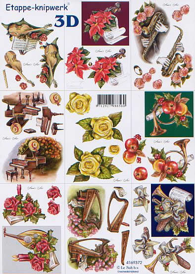 3D Bogen Klein Musik - Format A4,  Sonstiges - Musik,  Le Suh,  3D Bogen,  Klein Musik,  Instromente