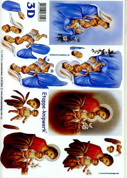 3D Bogen Maria Josef + Art - Format A4,  Le Suh,  3D Bogen,  Maria Josef + Kind