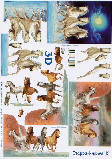 3D Bogen Pferde - Format A4,  Tiere - Pferde,  Le Suh,  3D Bogen,  Wildpferde