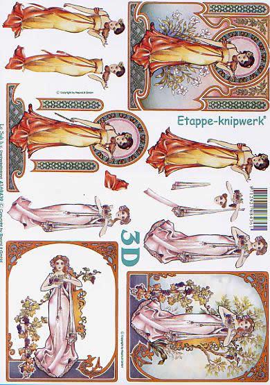 3D Bogen Neue Kunst - Format A4,  feen,  Le Suh,  3D Bogen,  Nouveau Art