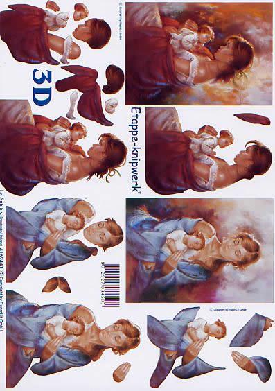 3D Bogen Murmeln Sie + Kind - Format A4,  Menschen - Babys,  Le Suh,  3D Bogen,  Mutter + Kind