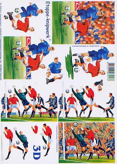3D Bogen Fußball - Format A4,  Sport -  Sonstiger,  Le Suh,  3D Bogen,  Fußball spiel