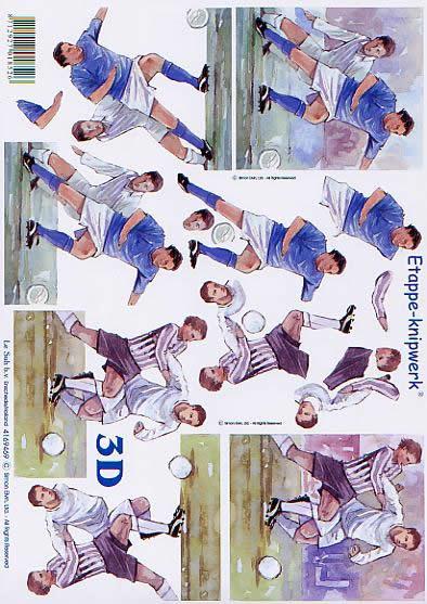 3D Bogen Fußballspieler - Format A4,  Sport - Fußball,  Le Suh,  3D Bogen,  Fußballspieler