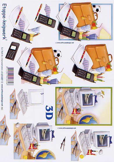 3D Bogen Computer + Handy - Format A4,  Sonstiges -  Sonstiges,  Le Suh,  3D Bogen,  Computer + Handy,  Arbeit