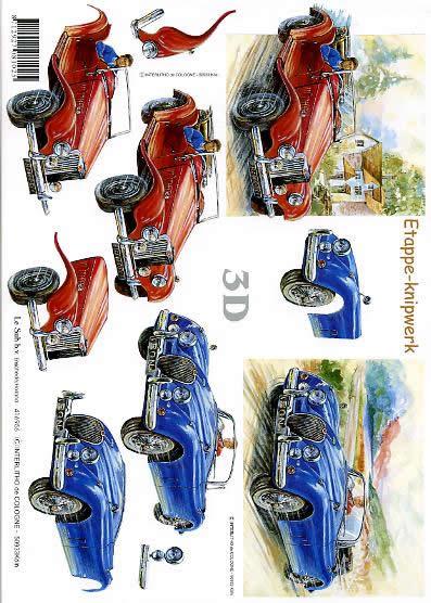 3D Bogen PKW`s - Format A4,  Fahrzeuge - Autos,  Le Suh,  3D Bogen,  PKW`s