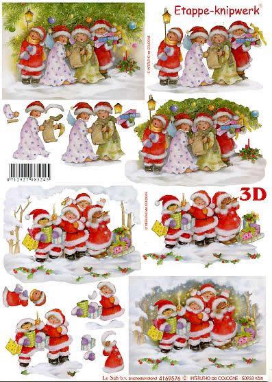 3D Bogen Singende Kinder - Format A4,  Weihnachten - Geschenke,  Le Suh,  3D Bogen,  Singende Kinder,  Weihnachtskinder,  Engel