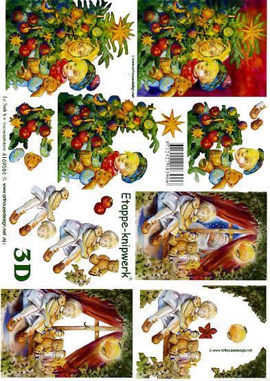 3D Bogen  - Format A4,  Menschen - Kinder,  Le Suh,  3D Bogen