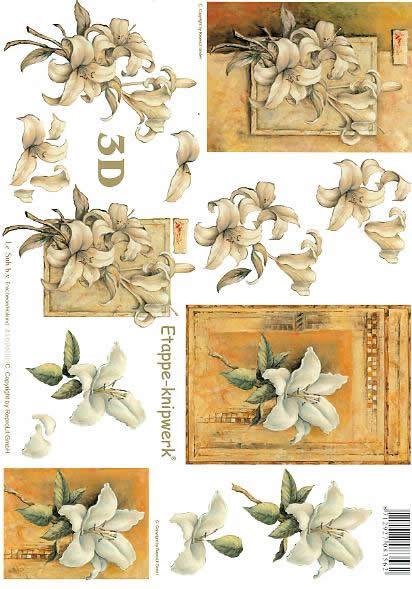 3D Bogen Kondolenz - Format A4,  Le Suh,  3D Bogen,  Kondolenz,  Trauer,  Lilie