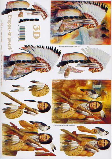 3D Bogen Indianer - Format A4,  Le Suh,  3D Bogen,  Indianer