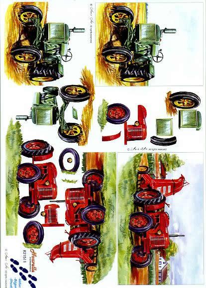 3D Bogen Traktor - Format A4,  Sonstiges -  Sonstiges,  Le Suh,  3D Bogen,  Traktor