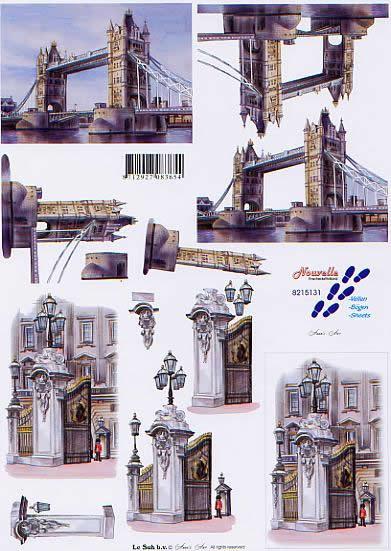 3D Bogen Tower Bridge - Format A4,  Regionen - Länder - Städte,  Le Suh,  3D Bogen,  Tower Bridge