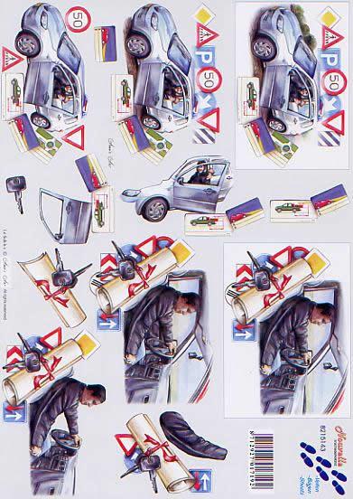 3D Bogen Füherschein - Format A4,  Ereignisse -  Sonstige,  Le Suh,  3D Bogen,  Füherschein