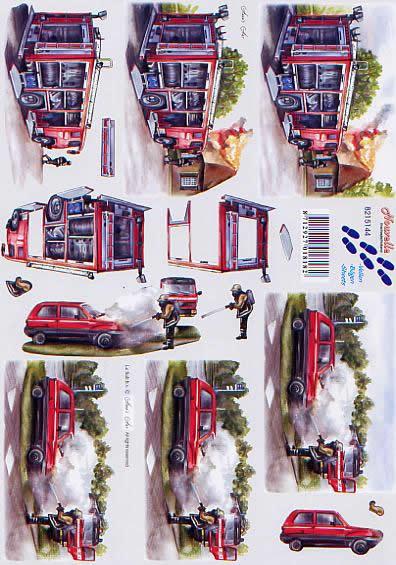 3D Bogen Feuerwehr - Format A4