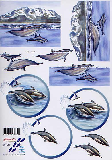 3D Bogen Delphine - Format A4,  Tiere -  Sonstige,  Le Suh,  3D Bogen,  Delphine