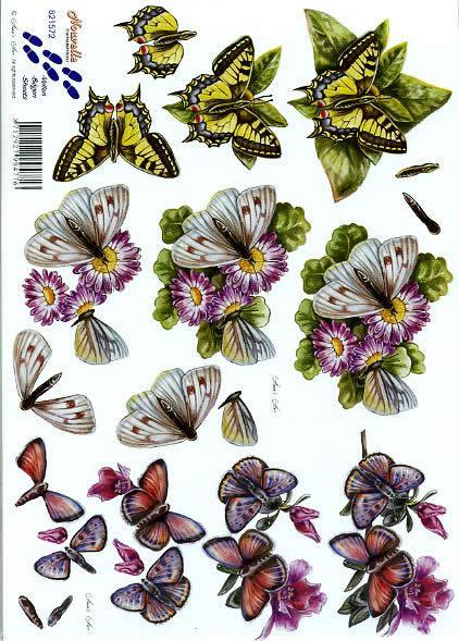 3D Bogen Schmetterlinge - Format A4,  Blumen -  Sonstige,  Le Suh,  3D Bogen,  Schmetterlinge