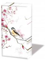 handkerchiefs Bird & Blossom White