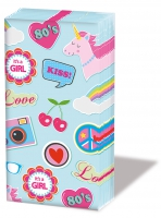 pañuelos de papel Patches & Pins Blue