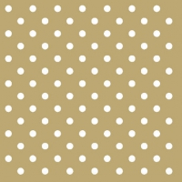 Cocktail napkins Dots Gold