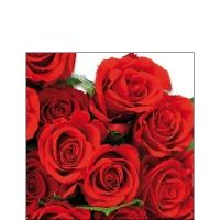 Cocktail Servietten Red Roses