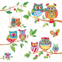 Cocktail Servietten Owls In Summerland