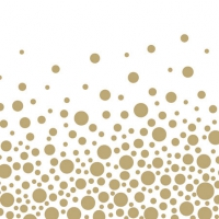 Cocktail Servietten Sparkling Dots Gold