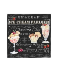Servilletas Cocktail Ice Cream Black