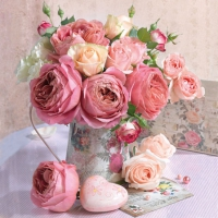 Cocktail Servietten Roses in Pot