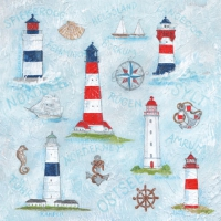 Cocktail napkins Maritime Ornaments