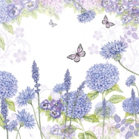 Cocktail napkins Purple Wildflowers