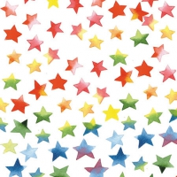 Cocktail napkins Colourful Stars Mix