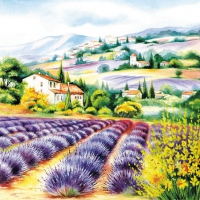 Cocktail napkins Lavender Field