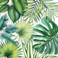 Cocktail napkins Tropical Leaves