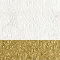 Cocktail napkins Elegance Dip Gold