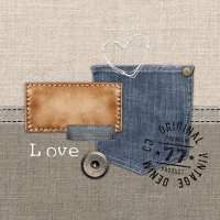 Servilletas 25x25 cm - Denim Original