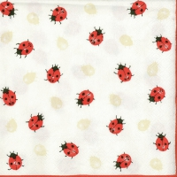 Lunch napkins LADYBIRDS CREME