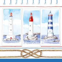 Lunch napkins  LIGHTHOUSES