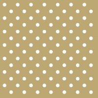 Lunch napkins Dots Gold
