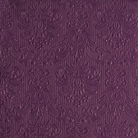 Serviettes lunch Elegance Aubergine