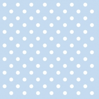 Lunch Servietten PASTEL DOTS BLUE