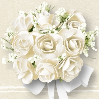 Lunch napkins White Roses